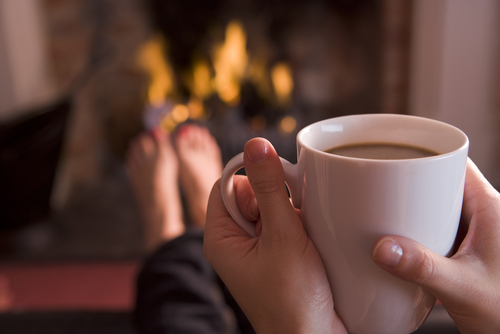 Cozy and Warm by the Fire.